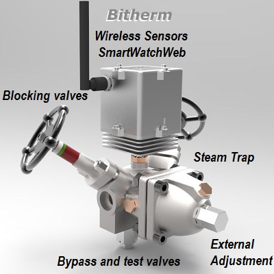 "Intelligent steam trap ""BiTherm SmartWatchWeb"""