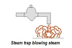 Steam trap blowing